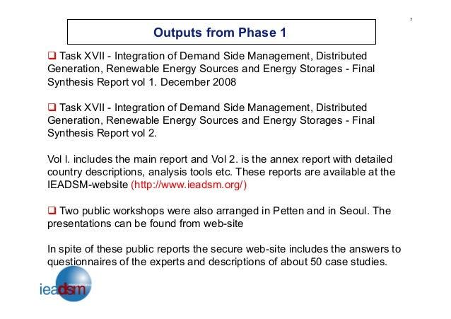 Integration Of Demand Side Management Distributed