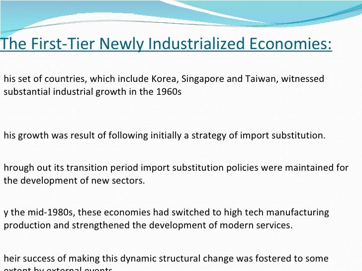 taiwan and its success in import substitution Policy are raised to explain the possible success of taiwan's taiwan thus adopted an import substitution policy to the role of industrial policy in taiwan's.