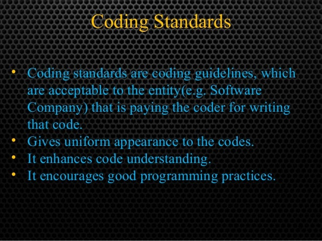 coding standards and guidelines in software engineering pdf