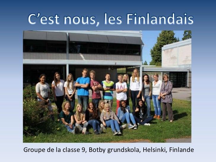 Groupe de la classe 9, Botby grundskola, Helsinki, Finlande