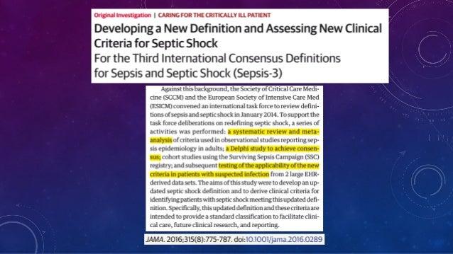Định nghĩa mới về Sepsis 3.0