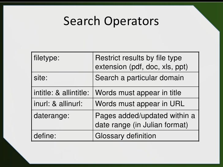 sept  28  2011 webcast become an expert google searcher in