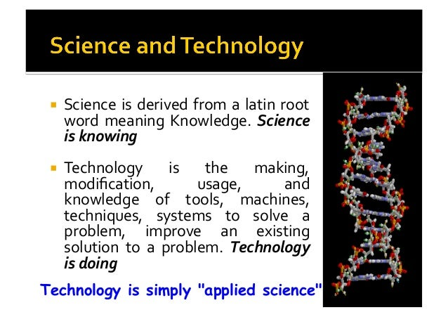 Science and technology yesterday today and tomorrow