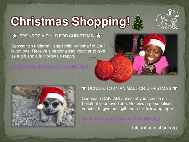 Christmas Shopping! SPONSOR A CHILD FOR CHRISTMAS  Sponsor an underprivileged child on behalf of your loved one. Receive a...