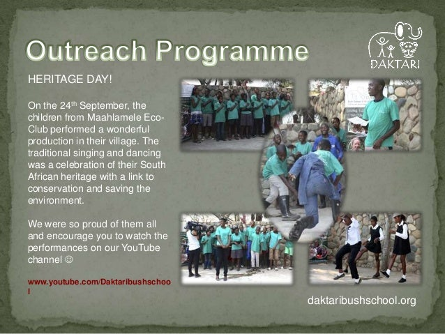 HERITAGE DAY! On the 24th September, the children from Maahlamele EcoClub performed a wonderful production in their villag...