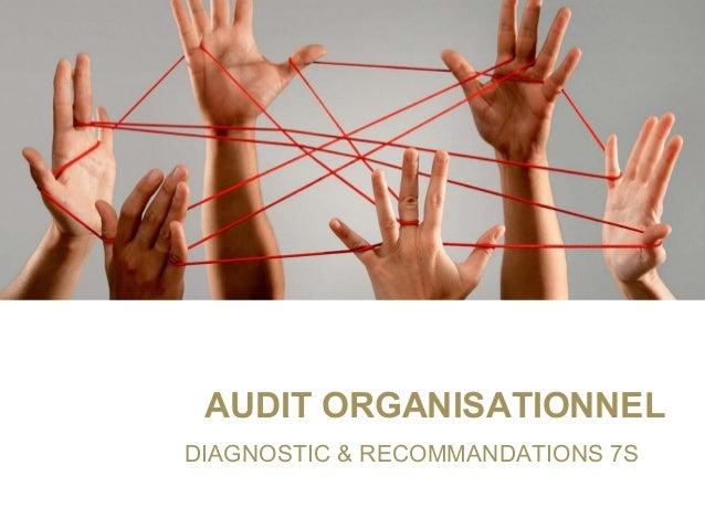 AUDIT ORGANISATIONNEL DIAGNOSTIC&RECOMMANDATIONS7S