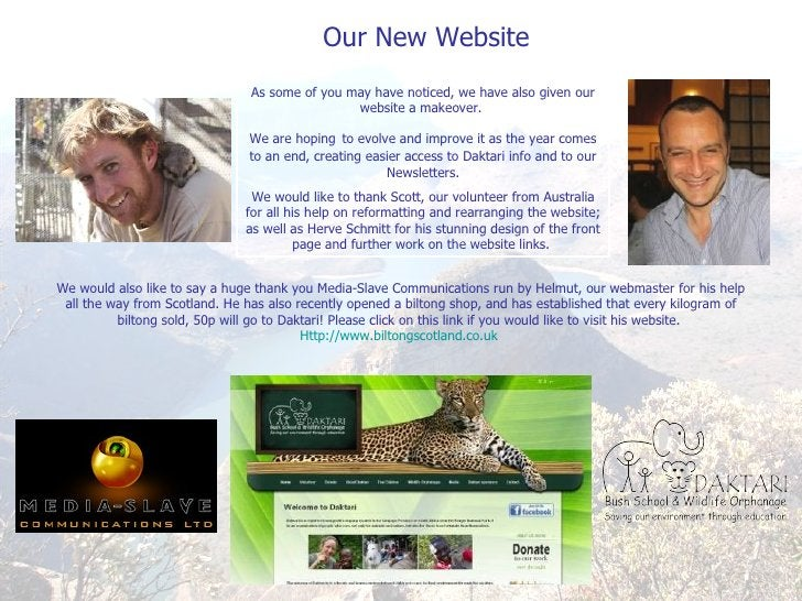 Our New Website As some of you may have noticed, we have also given our website a makeover.  We are hoping   to evolve and...