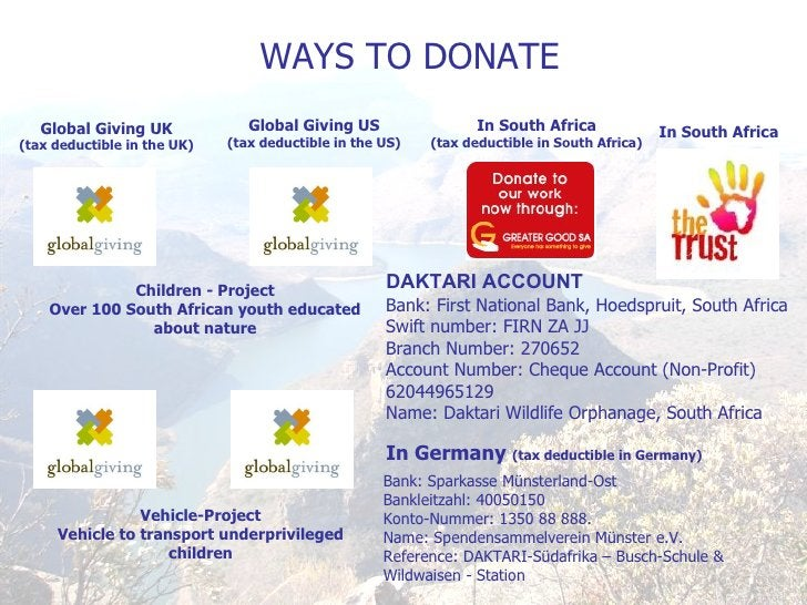 In South Africa Global Giving UK (tax deductible in the UK) Children - Project Over 100 South African youth educated about...