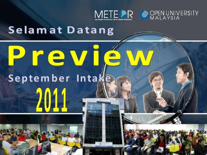 Preview September  Intake 2011 Selamat Datang
