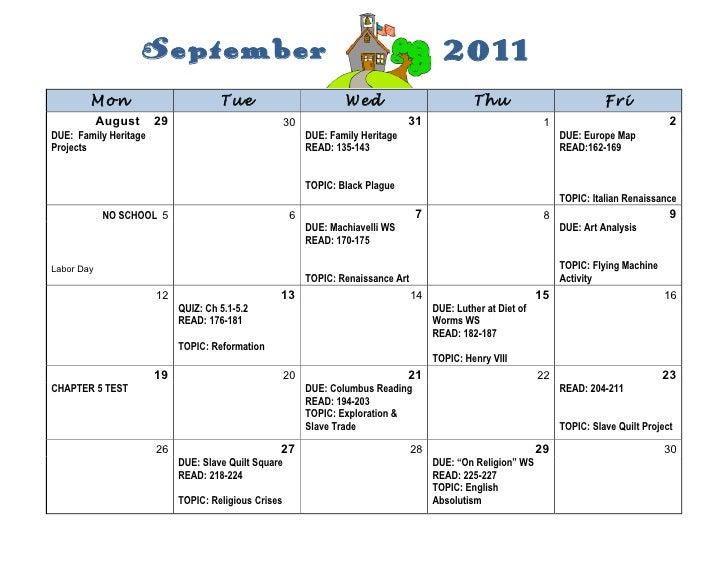 September                                                             2011        Mon                          Tue        ...
