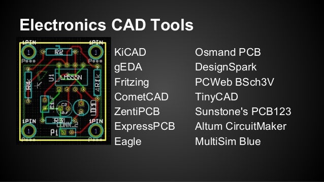 Electronic CAD Tool Options for Schematic and PCB work