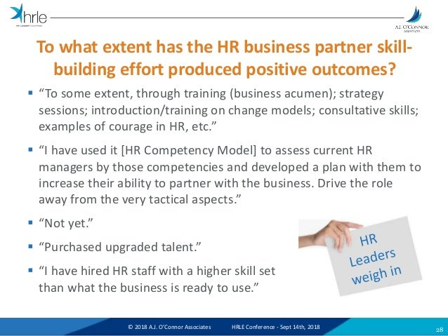The State of HR Business Partnership