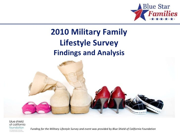 2010 Military Family  Lifestyle Survey  Findings and Analysis  Funding for the Military Lifestyle Survey and event was pro...