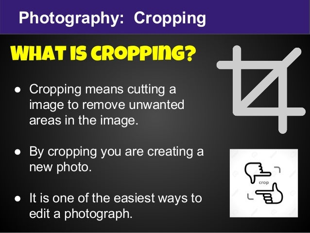 cropping images