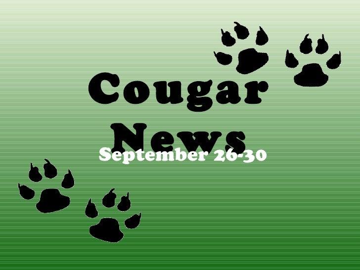 Cougar News September 26-30