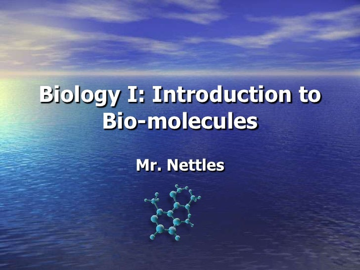 Biology I: Introduction to      Bio-molecules        Mr. Nettles