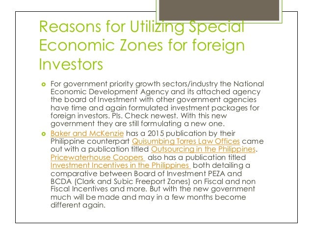 Boi incentives to foreign investors