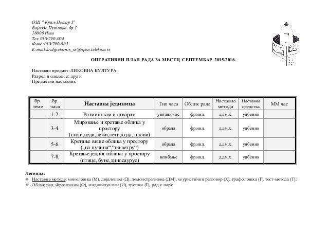"ОШ "" Краљ Петар I"" Војводе Путника бр.1 18000 Ниш Тел.018/290-004 Факс:018/290-005 E-mail:kraljpetarnis_ss@open.telekom.rs..."