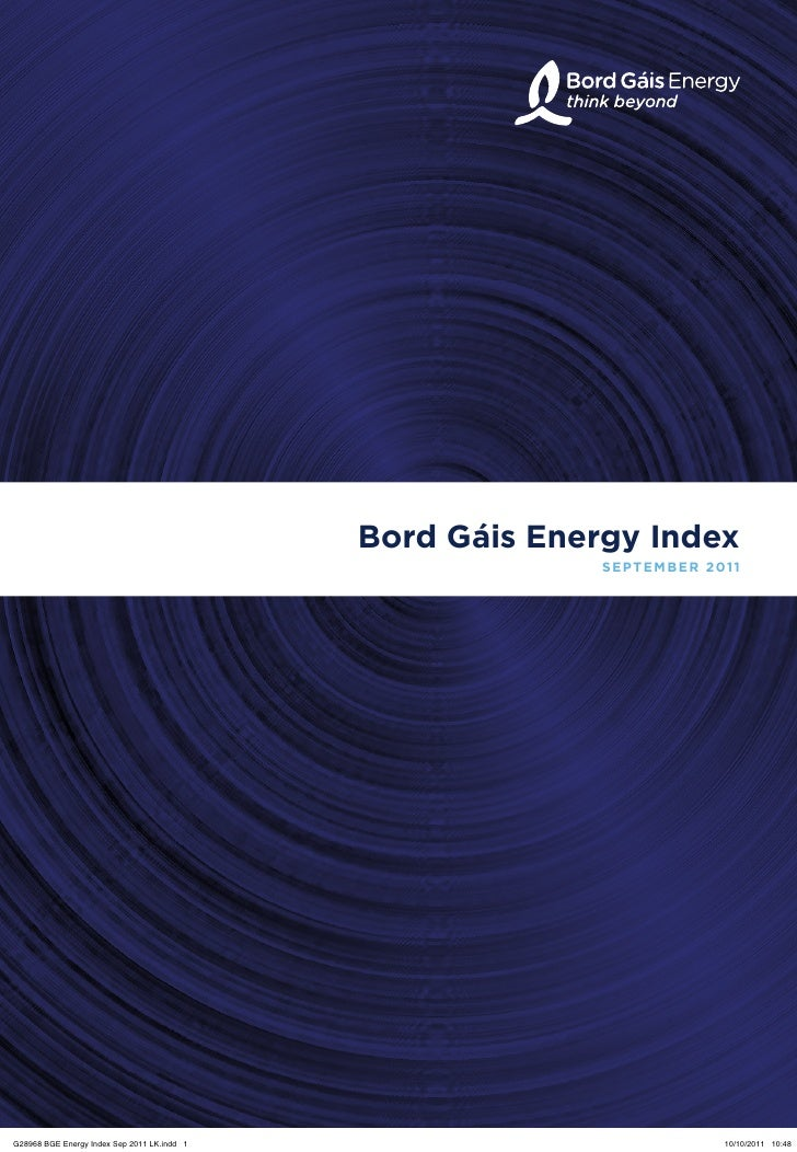 Bord Gáis Energy Index                                                           SEPTEMBER 2011G28968 BGE Energy Index Sep...
