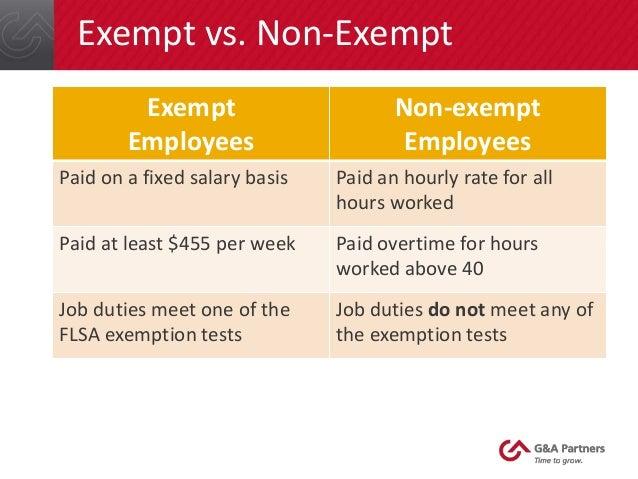 non exempt