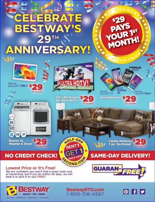 . Enjoy rent to own furniture  Appliances  Computer   29