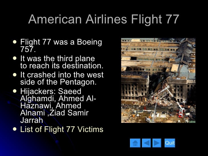 American Airlines Flight 77 Flight