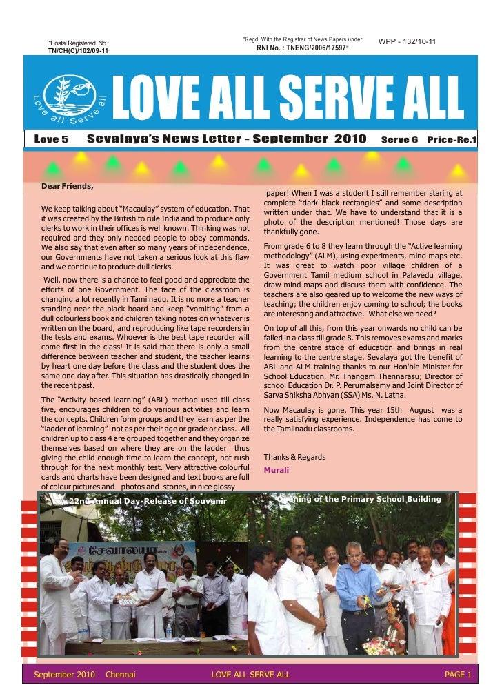 September 2010 News Letter