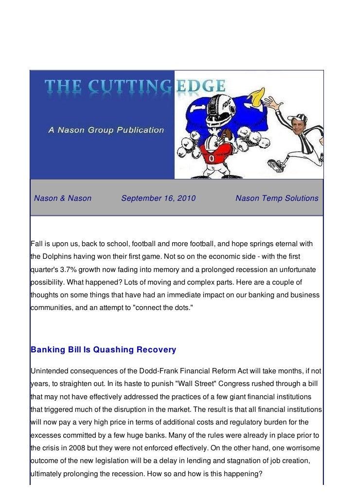 Nason & Nason                September 16, 2010                    Nason Temp Solutions     Fall is upon us, back to schoo...
