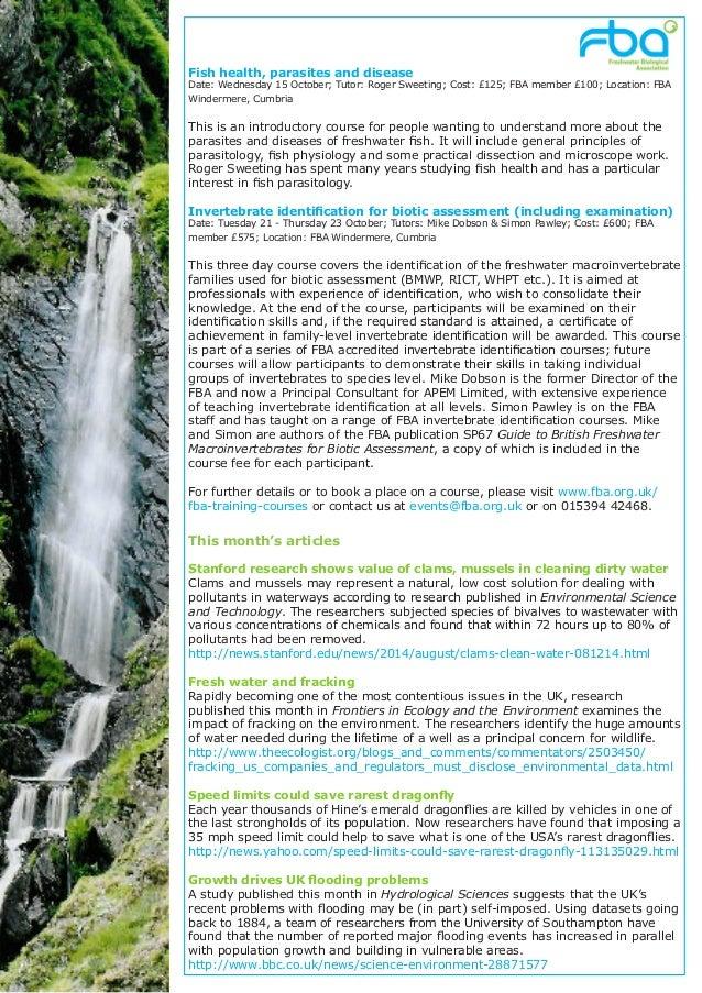 Freshwater Matters from the FBA September2014 Slide 2