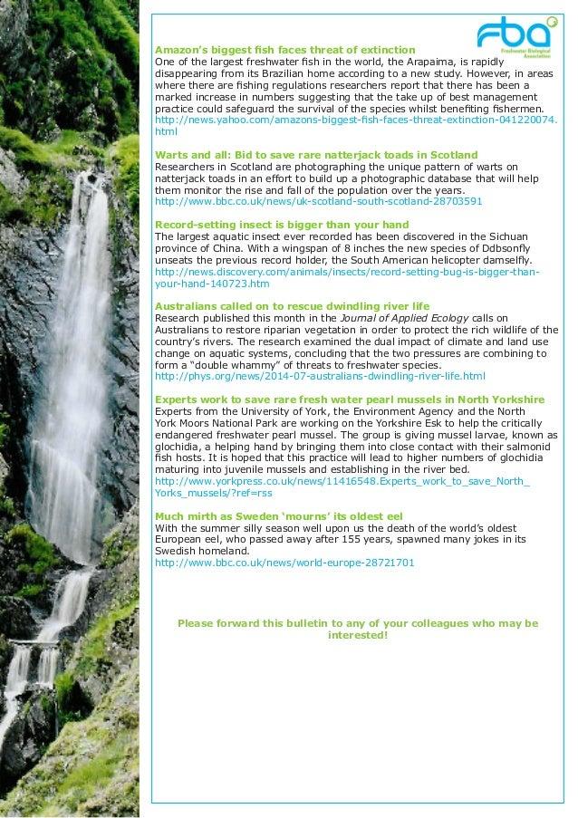 Freshwater Matters from the FBA September2014 Slide 3