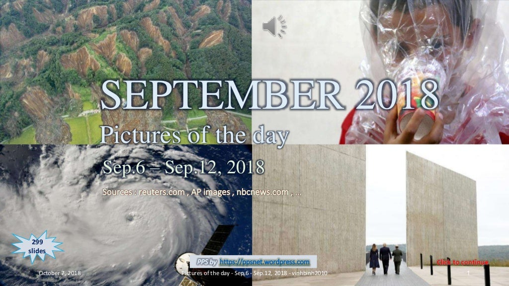 SEPTEMBER 2018 - Pictures of the day - Sep.6 - Sep.12, 2018