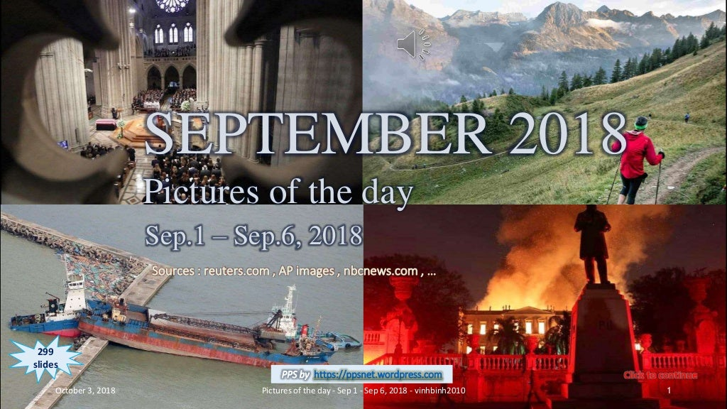 SEPTEMBER 2018 - Pictures of the day - Sep.1 - Sep. 6, 2018