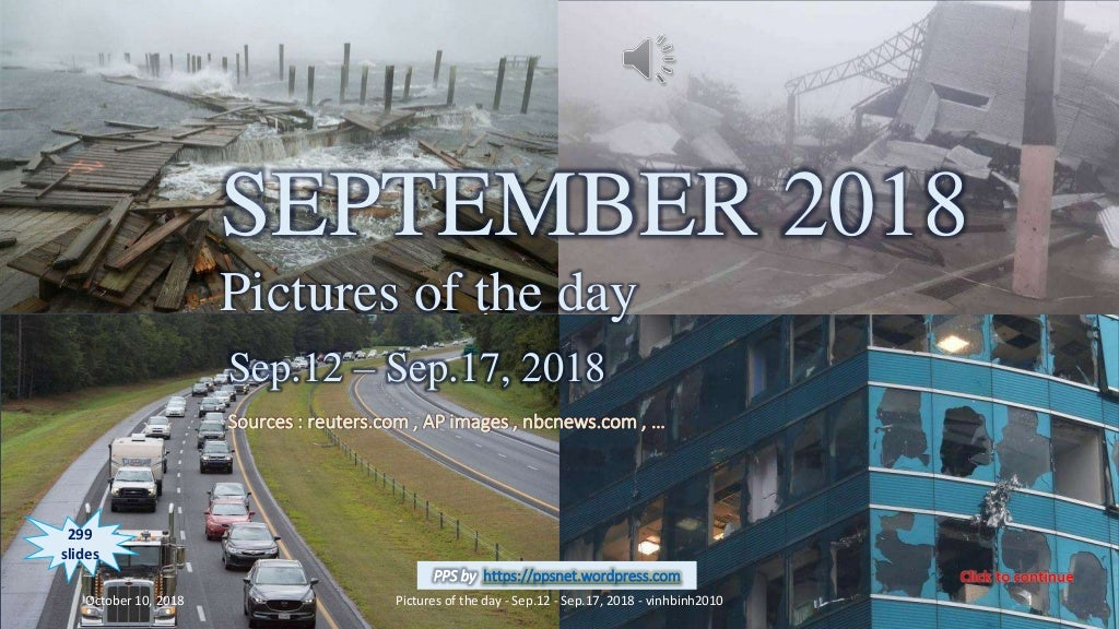 SEPTEMBER 2018 - Pictures of the day - Sep.12 - Sep.17, 2018