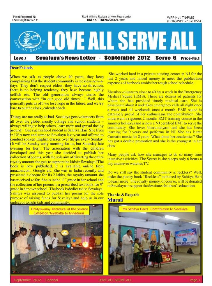 September News Letter 2012