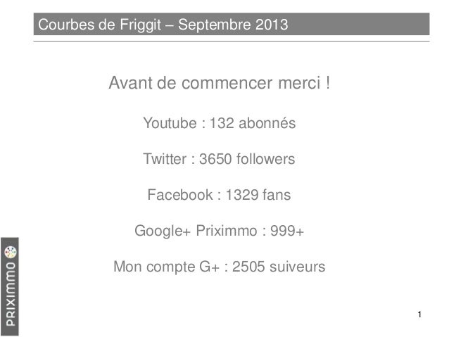 Courbes de Friggit – Septembre 2013  Avant de commencer merci ! Youtube : 132 abonnés  Twitter : 3650 followers Facebook :...