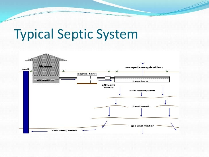 Septic tank for Typical septic system