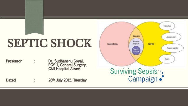 SEPTIC SHOCK Presentor : Dr. Sudhanshu Goyal, PGY-1, General Surgery, Civil Hospital Aizawl Dated : 28th July 2015, Tuesday