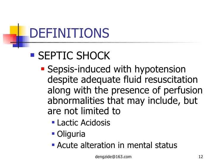 what is septic shock and what causes it