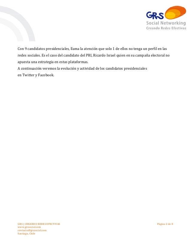 Presidenciales 2013: Análisis y estadísticas de candidatos en Redes Sociales durante Septiembre Slide 2