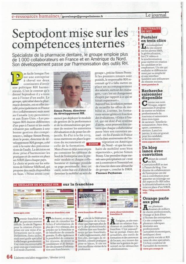 Septodont article liasons sociales feb 2013