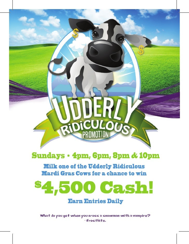 Mardi Gras Casino Organizes Udderly Ridiculous Event