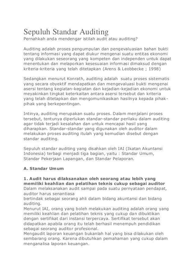 sepuluh standar auditing