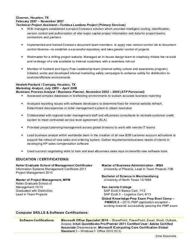 Alma Sepulveda Resume