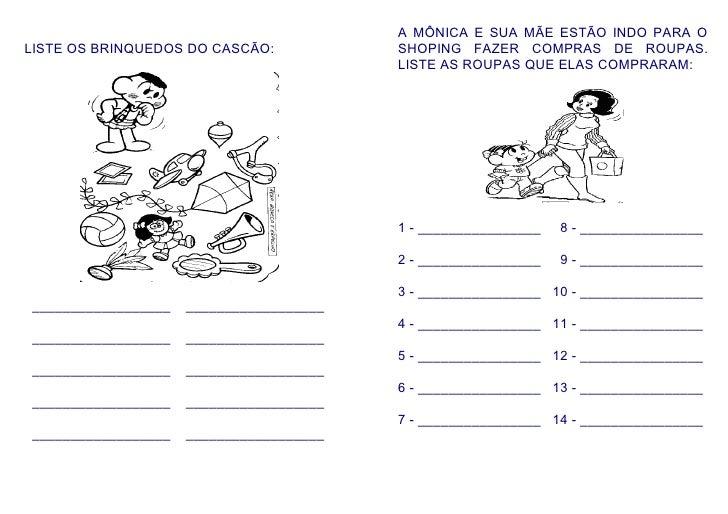 A MÔNICA E SUA MÃE ESTÃO INDO PARA O LISTE OS BRINQUEDOS DO CASCÃO:            SHOPING FAZER COMPRAS DE ROUPAS.           ...