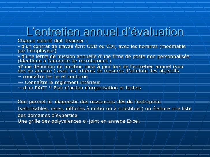 Collaborateur Exemple Entretien Annuel Dévaluation Rempli ...