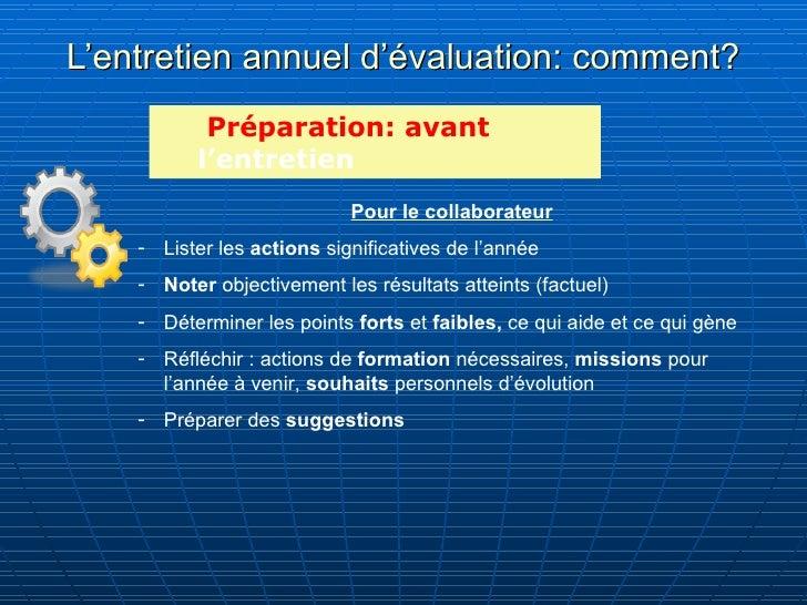 Entretien annuel d evaluation - Grille d evaluation entretien annuel ...
