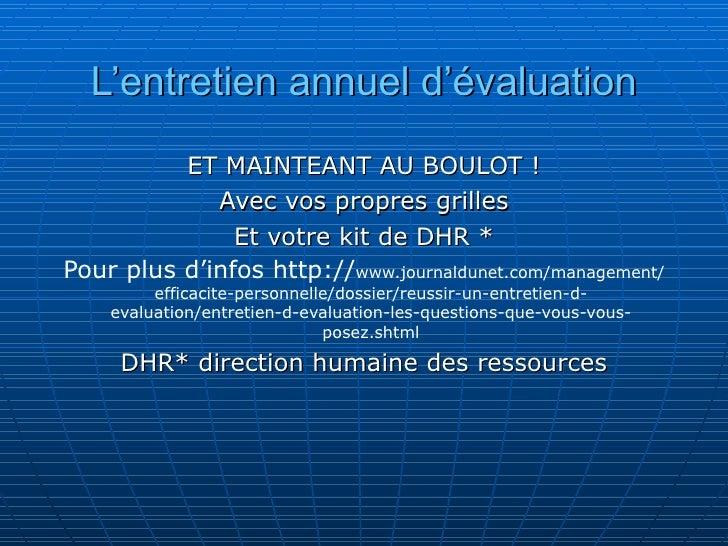 Entretien annuel d evaluation - Grille evaluation entretien embauche ...
