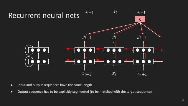 Recurrent neural nets 6 C ● ●