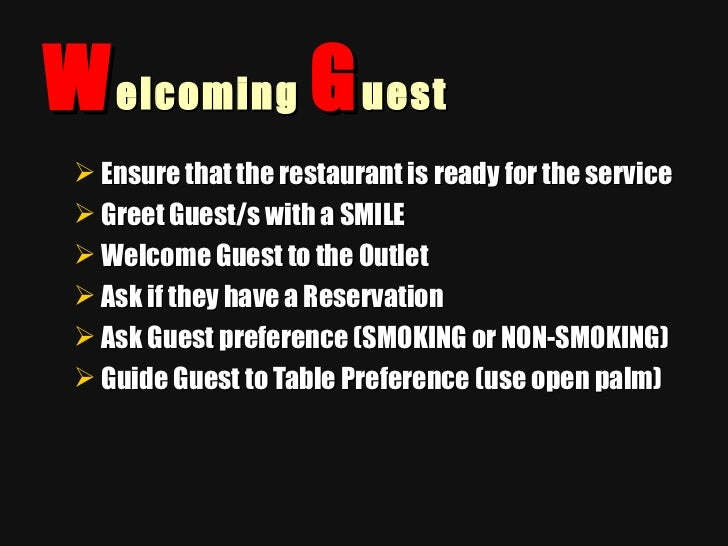 Sequence of service restaurants altavistaventures Images