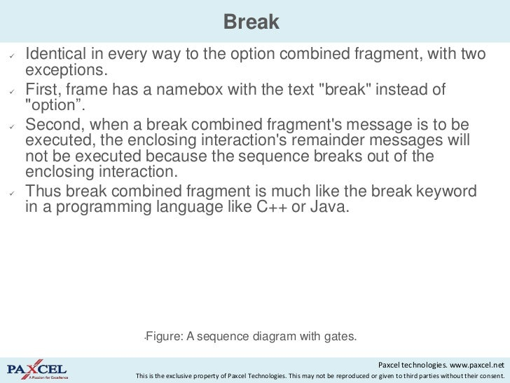 Sequence diagrams in uml break ccuart Images